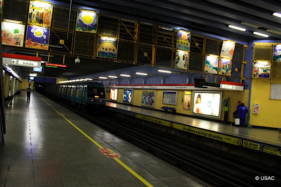 The Santiago metro is extensive and can take you almost anywhere in the city. It is the second longest metro in Latin America after the system in Mexico City