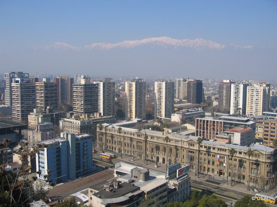 Santiago has been growing upward with the steady increase in population and economic power.