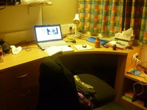 There is plenty of space to do your homework and study in your room.