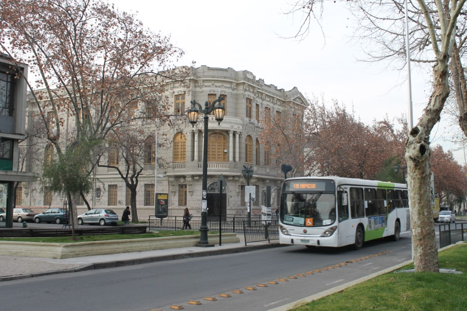 Andrés Bello is located near a metro station, which makes for an easy commute to school.