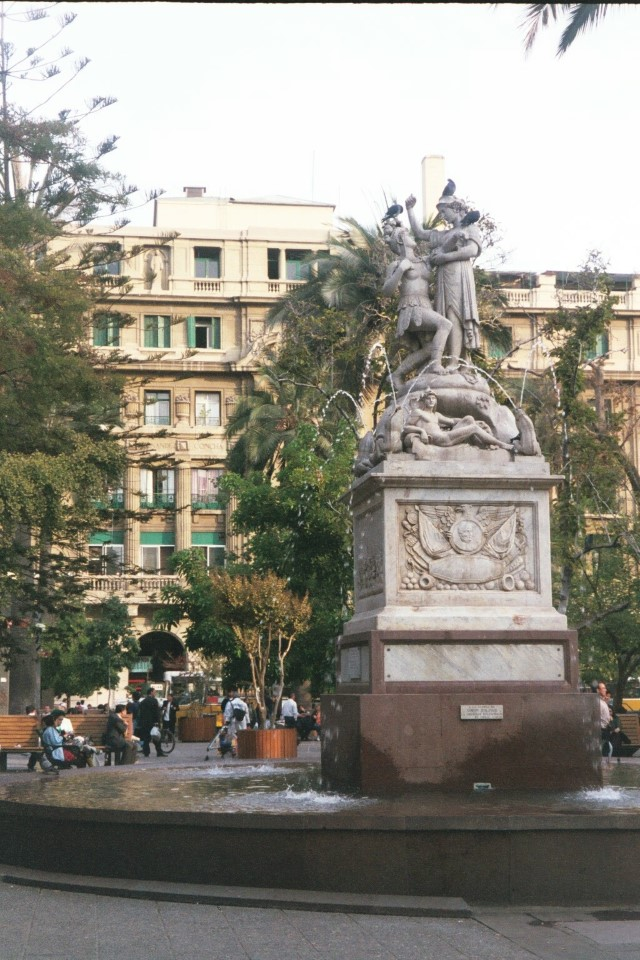 Statues, fountains, and people populate the many plazas of the city.