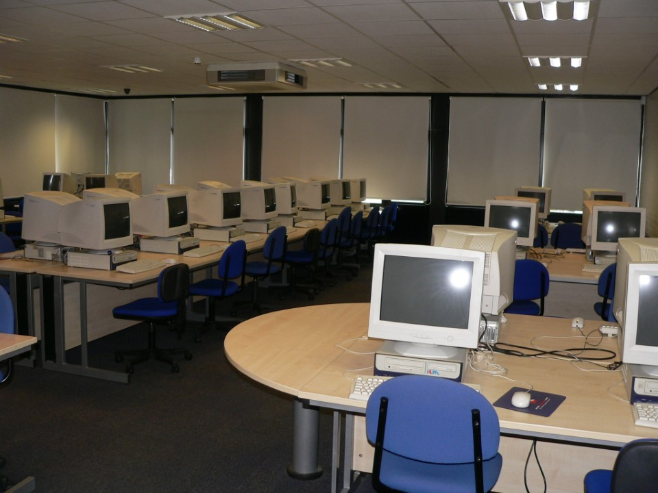 If you need to type up a paper or do some research, use one of the computer labs on campus.