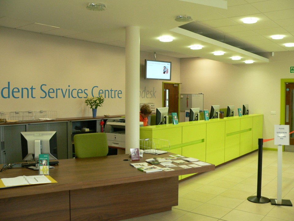 The Student Services Centre will help you with any questions or concerns you have about the university.