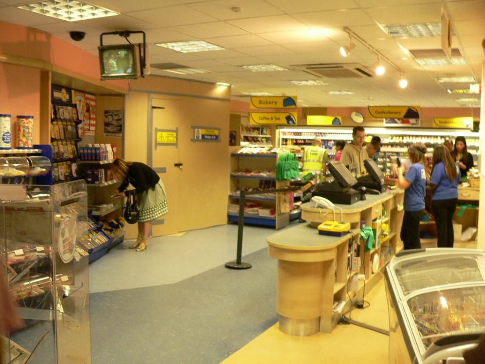 The mini store has many of your basic necessities.