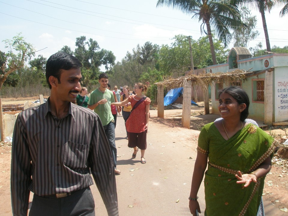 Students were given a tour of the village. They visited houses, temples, and the fields where the villagers work. They even had the opportunity to converse with the people of the village.