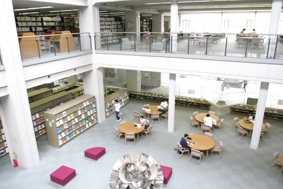There is a lot of room in the library to study alone or with a group of students.